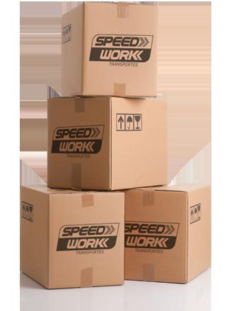 Imagem com as Caixas da Speed Work